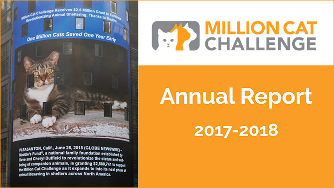 Cover of Million Cat Challenge Annual Report for Fiscal Year 2017-2018