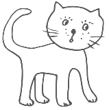 Line drawing of a cat